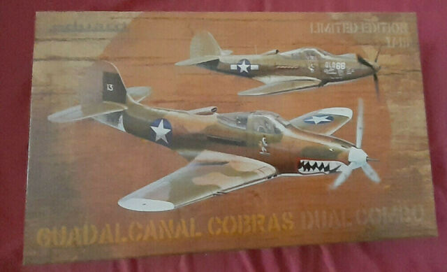 EDUARD MODEL KIT GUADALCANAL COBRAS DUAL COMBO LIMITED EDITION SCALE 1//48