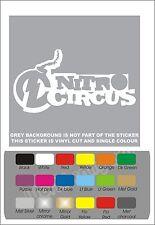 x2 NITRO CIRCUS Car Van Truck Sticker Decal Graphics Any Colour