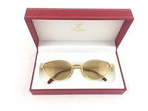 Completo Garanzia Vintage Cartier Originali Sunglasses Scatola Occhiali ta6vgR
