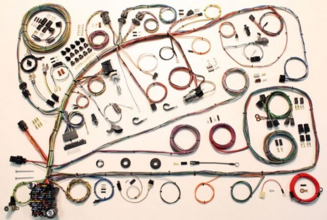 s l640 1966 1967 ford fairlane wire wiring harness kit american autowire