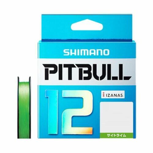 Shimano Pitbull X12 Lime Green 200m 23.4lb//10.6kg #1.0 Braided PE Line New JAPAN