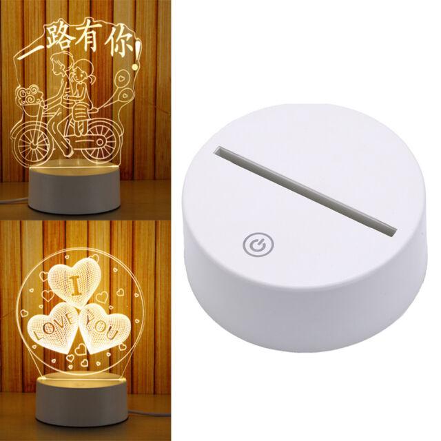 Touch Lamp Base For 3D Night Light LED Light Base Lamp Holder white colorE9C