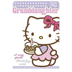 Petite Fille Carte D Anniversaire Hello Kitty Open Age 3rd 4th 5th 6th 7th 8th Ebay