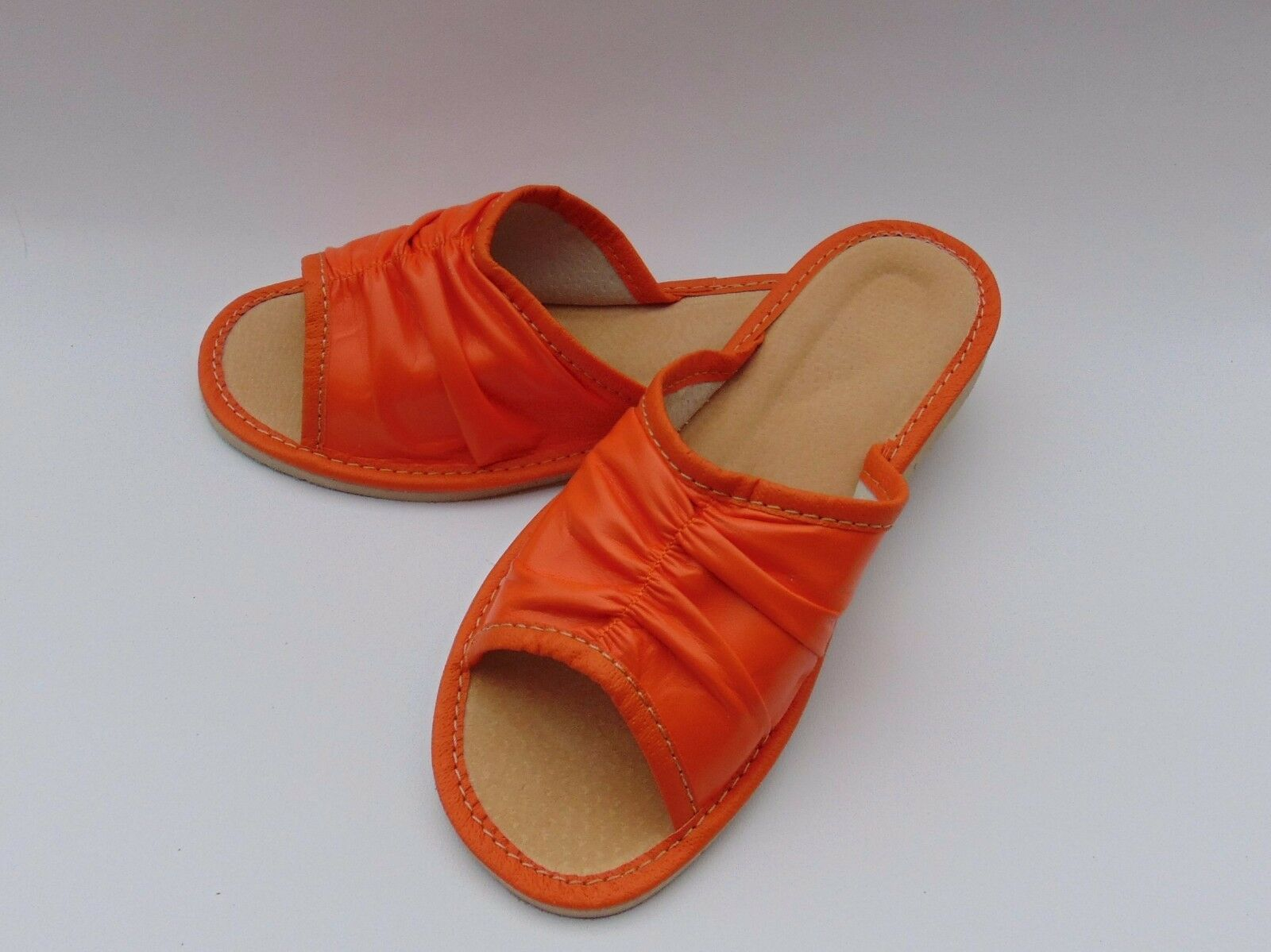 Ladies soft MADE leather slippers*ORIGINAL EU HAND MADE soft PRODUCT*sizes 3,4, 5,6,7,8 1db762
