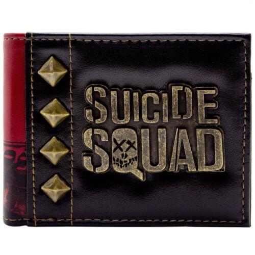 Suicide Squad Harley Quinn Goldabzeichen Schwarz Portemonnaie Geldbörse