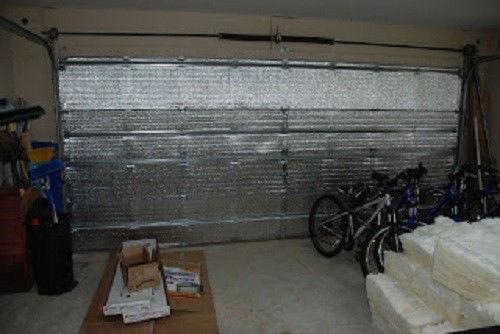 us energy precut 16 panel 2 car garage door insulation kit radiant barrier ebay