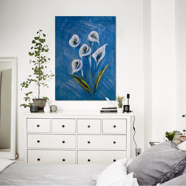 3D Wand Reizend bluee bluemen 95 Fototapeten Wandbild BildTapete AJSTORE DE Lemon