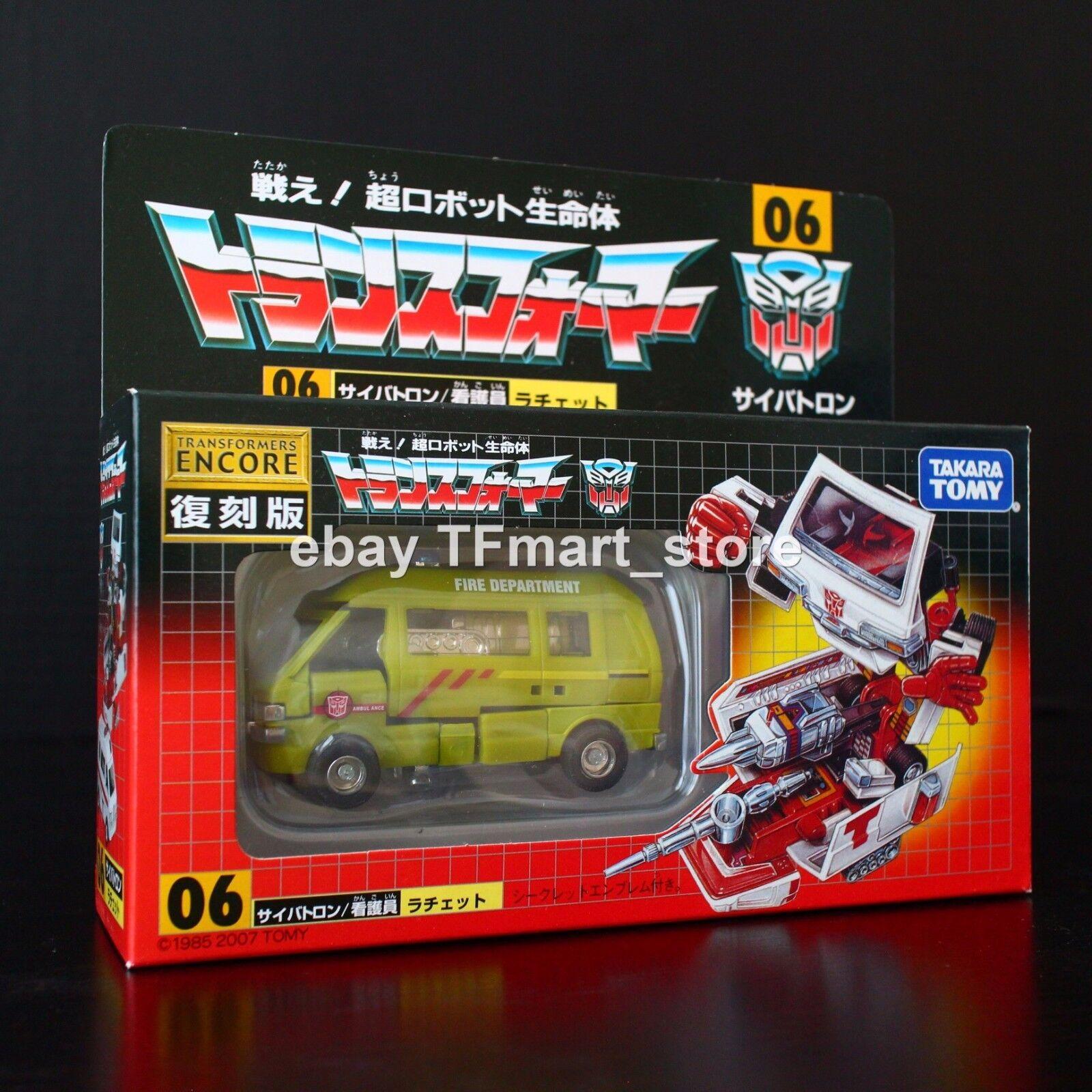 Transformers G1 Encore 06 ehobby Emergency verde Ratchet Movie Inspirosso Deco Nuovo