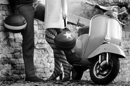 Vespa Kiss Canvas Wall Art Poster Print Lambretta Scooter Bike Quadraphinia Mods