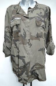 coole military bluse camouflage oliv khaki hemd jacke blusenjacke longbluse ebay. Black Bedroom Furniture Sets. Home Design Ideas