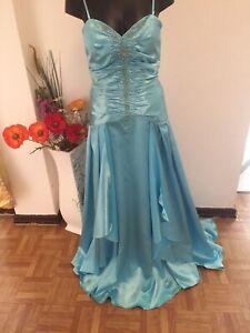 Original Einzelhandelspreise Fabrik authentisch Details zu Aufwendig gearbeitetes wunderschönes langes festliches  hellblaues Kleid