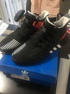 meet c98c2 3b736 Details about ADIDAS SZ 11.5 EQT Bask ADV Black White Hi-Res Red Men  Running Shoes AQ1013.