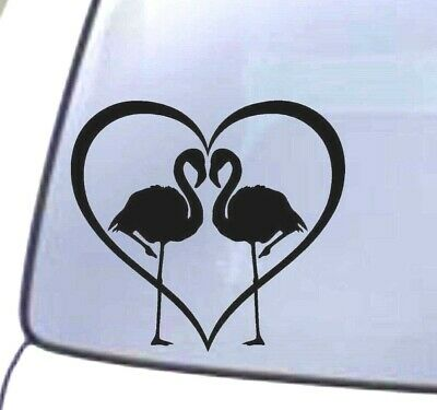 Flamingo Heart Animal Window Bumper Laptop Decal Vinyl Wall Truck Car Sticker