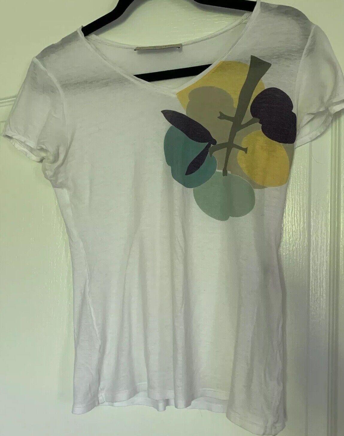 Stella McCartney damen's Weiß Top T-shirt Größe 42 Made In
