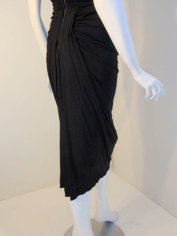 CEIL CHAPMAN 1940s Vintage Black Cocktail Dress - image 8