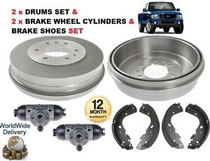 WHEEL CYLINDERS FOR FORD FIESTA MK4 1995-2002 2X REAR BRAKE DRUMS SET SHOES