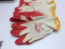 100 Pairs Rubber Coated Work Safety Construction Gloves Red High Quality