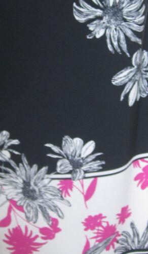 NEW Evans Plus Size Floral Print Maxi Long Dress Summer Sun Black Pink 14-20
