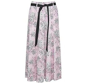 "Ladies New Summer Floral Print Hippy Boho Long Skirts 10 to 24 Size 35/"" Long"