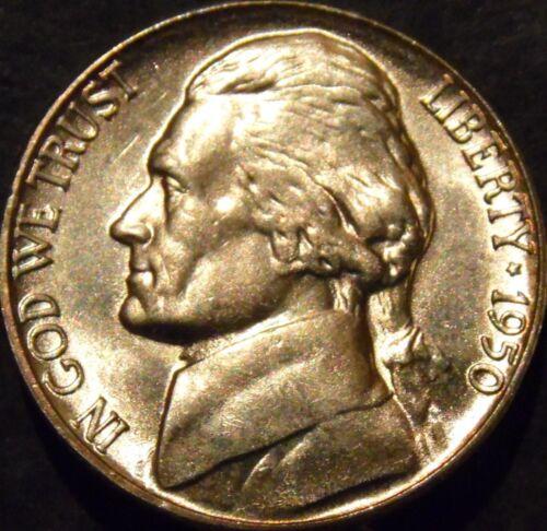 1950-P Jefferson Nickel Choice//Gem BU Uncirculated