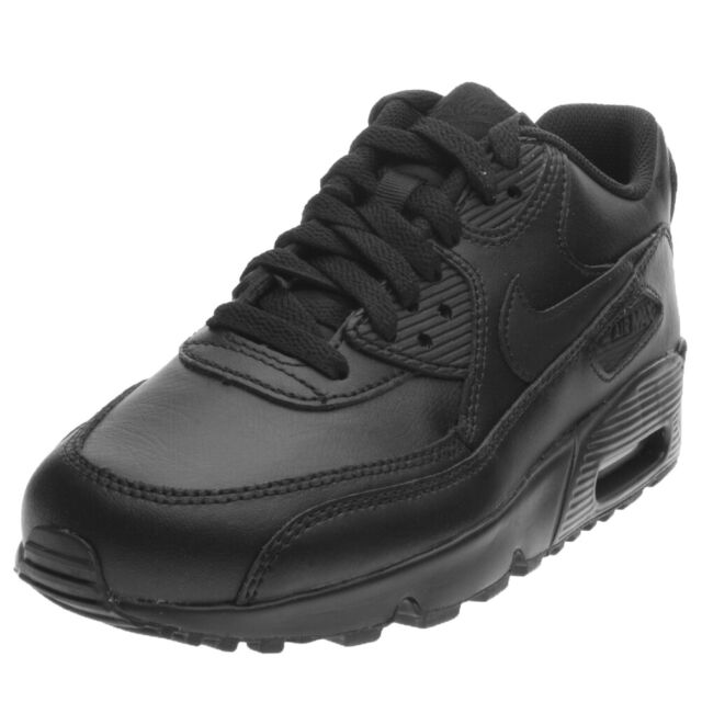 Nike Air Max 90 Leather GS Shoes Black Trainers Skyline Command 97 BW 833412 001 UK 5