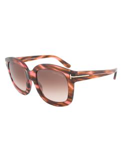 Tom Ford CHRISTOPHE Sunglasses Shiny Havana Frame Brown Lens FT0279 48Z