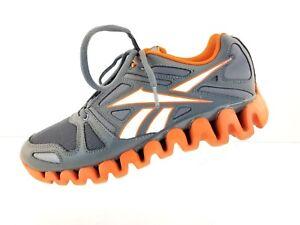 943f6cc07fed Image is loading Reebok-Orange-Gray-Zigtech-Zig-Dynamic-Running-Training-
