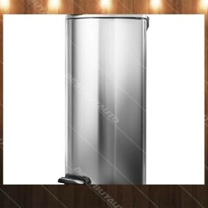Details about HomeZone 30 L Stainless Steel Round Kitchen Trash Can 8  Gallon Step Pedal Bin
