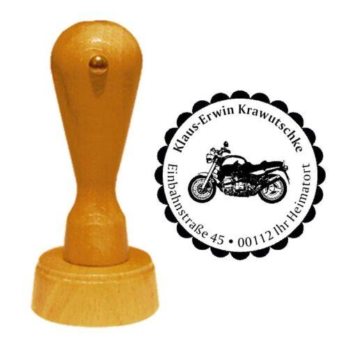 Stempel « MOTORRAD 01 » Adressenstempel Motiv Name Biker Motorradtreffen Verein