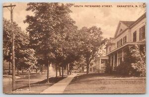 Canastota-New-York-South-Peterboro-Street-Homes-Close-Up-Shade-Trees-1914-Sepia
