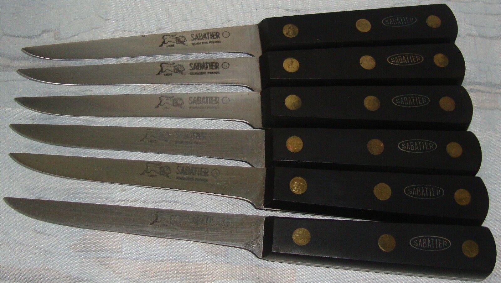 SET OF 6 LION SABATIER 5  BLADE BONING KNIVES