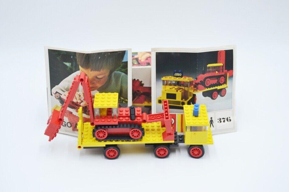 LEGO Set 376 Tieflader Bagger BA vintage Low-Loader Excavator