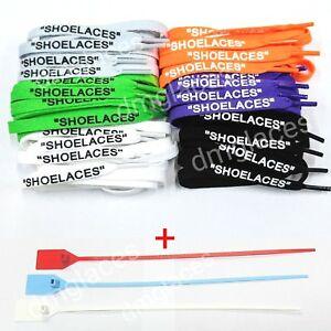 "SHOELACES"" Flat Laces Zip Tie for Off"