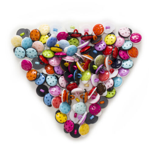 50pcs Shank Ladybug Resin Buttons Decor Sewing Scrapbooking Clothing 15x13mm