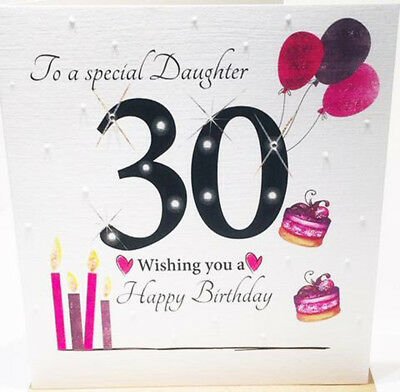 Large 30th Birthday Card For A Special Daughter 8.25 x 8.25 Inches
