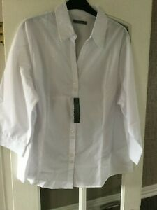 release date sale uk great deals Details about LITTLEWOODS WHITE WORK SHIRT BLOUSE BY SOUTH SIZE 22 BNWT
