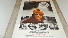LES 3 JOURS DU CONDOR  ! robert redford  affiche cinema vintage espionnage 1975