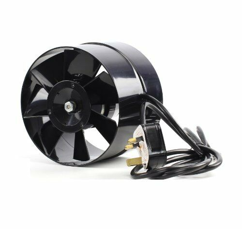"""4 5 6/"""" In Line Hydroponic Grow Room Air Input Tent Fan Green Room 100 125 150mm"""