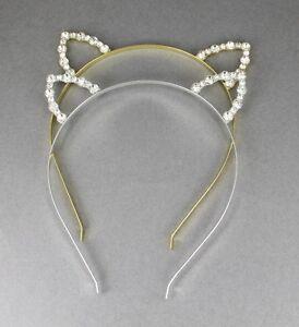 fc690c2d0 Image is loading crystal-cat-ears-headband-halloween-costume-kitty-cat-
