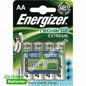 4-x-Energizer-AA-2300-mAh-Rechargeable-Batteries-EXTREME-Pre-Charged-NiMH-LR6