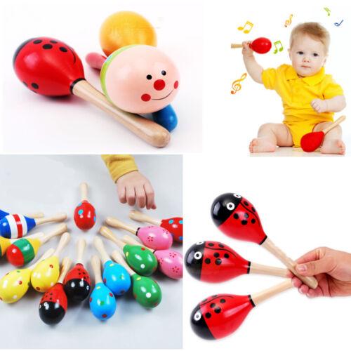 Mini Bola De Madera Niños Juguetes Percusión Instrumentos Musicales Martillo