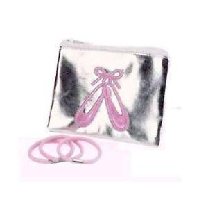 Mädchen Ballettschuh Portemonnaie mit 3 pink Haarbänder