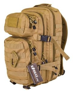 Coyote-Desert-Small-28-ltr-Molle-Daysack-Army-Camping-Rucksack-Assault-Pack