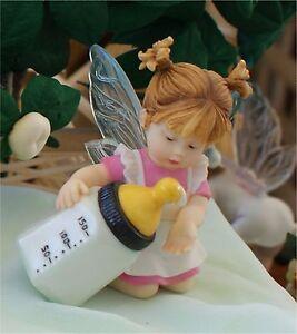 Details about My Little Kitchen Fairies MILK CHECK FAIRIE Enesco Series  FIGURE FAIRY