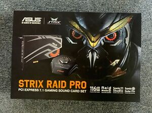 ASUS STRIX RAID DLX Internal 7.1 channels PCI-E - [Opened Never Used] LIKE NEW