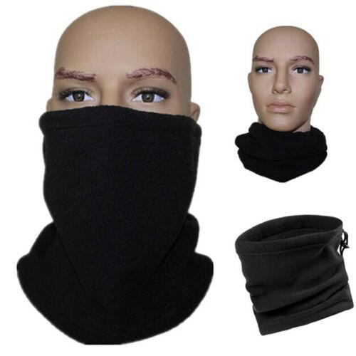 Snood Scarf Winter Hat Fleece Neck Warmer Balaclava Men Women Black Ski MaskWL