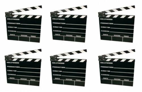 6x Filmklappe Regieklappe Regie Film Hollywood Klappe Clapperboard 20x18cm