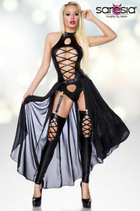 Wetlook-Kleid-Sexy-Rock-Kostuem-Minirock-Clubwear-Partykleid-Abendkleid-Minikleid