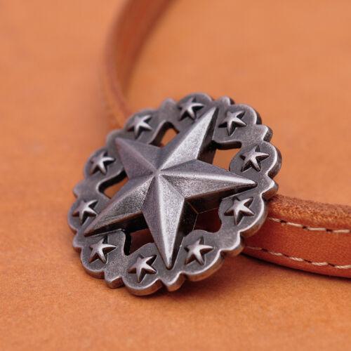 36MM 10X Antique Silver Western Texas Star Concho For Leathercraft Handbag Decor