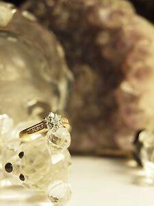 750-YELLOW-GOLD-LADIES-DIAMOND-CLUSTER-RING-SIZE-N-HALLMARKED-750
